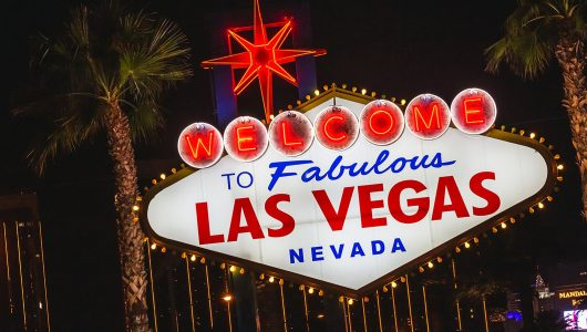 Welcome sign at Las Vegas, Nevada, United States of America. Las Vegas, USA - September 27, 2018.
